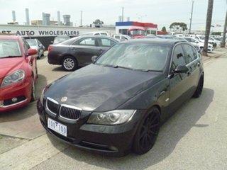 2005 BMW 3 Series E46 MY2004 330i Steptronic Sport Black 5 Speed Sports Automatic Sedan.