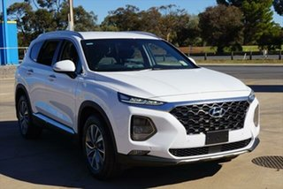 2018 Hyundai Santa Fe TM MY19 Elite White Cream 8 Speed Sports Automatic Wagon.