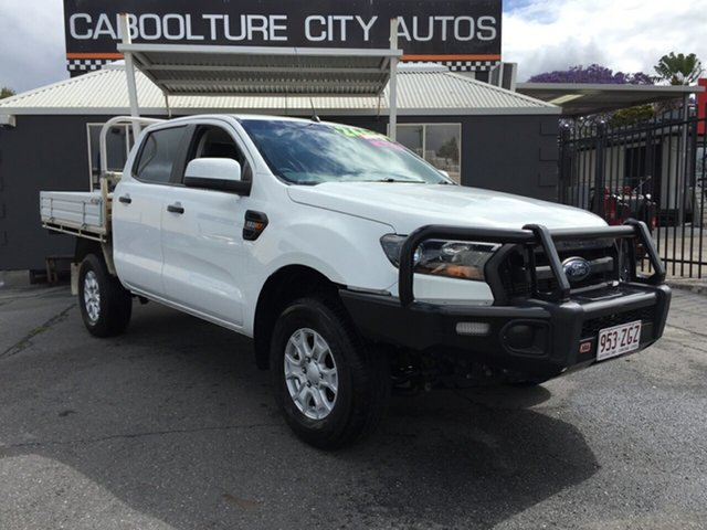 Used Ford Ranger PX MkII XL 2.2 (4x4), 2015 Ford Ranger PX MkII XL 2.2 (4x4) White 6 Speed Automatic Crew Cab Chassis