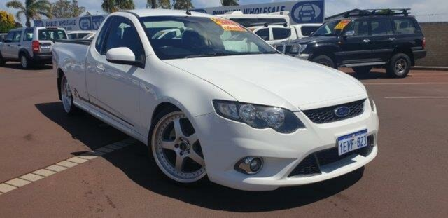 Used Ford Falcon FG XR6 Turbo Ute Super Cab 50th Anniversary, 2010 Ford Falcon FG XR6 Turbo Ute Super Cab 50th Anniversary White 6 Speed Manual Utility