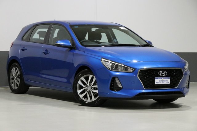 Used Hyundai i30 PD Active, 2017 Hyundai i30 PD Active Marina Blue 6 Speed Auto Sequential Hatchback