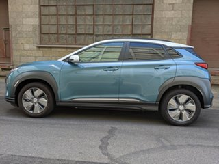 2019 Hyundai Kona OS.3 MY19 electric Highlander Ceramic Blue 1 Speed 00 Wagon