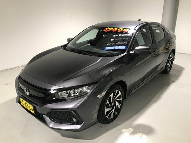 Used Honda Civic 10th Gen MY18 VTi-S, 2018 Honda Civic 10th Gen MY18 VTi-S Grey 1 Speed Constant Variable Hatchback