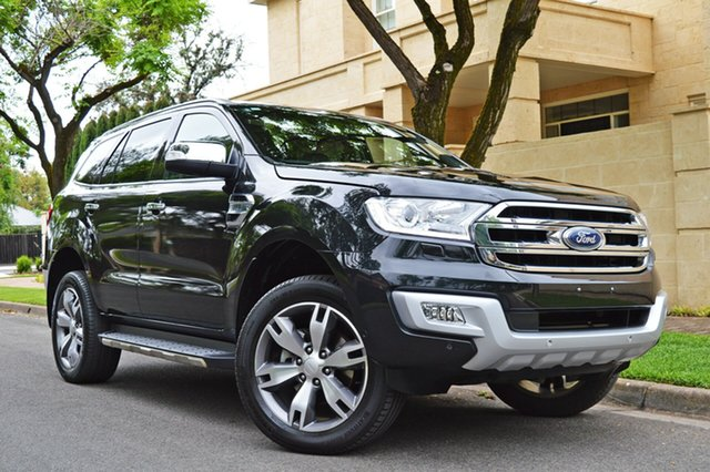 Used Ford Everest UA Titanium 4WD, 2015 Ford Everest UA Titanium 4WD Black 6 Speed Sports Automatic Wagon