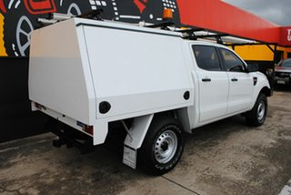2014 Ford Ranger PX XL Double Cab Cool White 6 Speed Sports Automatic Cab Chassis.