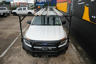 2014 Ford Ranger PX XL Double Cab Cool White 6 Speed Sports Automatic Cab Chassis