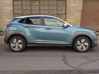 2019 Hyundai Kona OS.3 MY19 electric Highlander Ceramic Blue 1 Speed 00 Wagon.