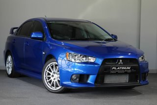 2012 Mitsubishi Lancer CJ MY12 Evolution Blue 5 Speed Manual Sedan.