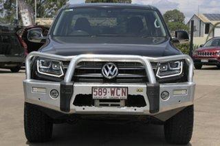 2015 Volkswagen Amarok 2H MY16 TDI420 4Motion Perm Highline Black 8 Speed Automatic Utility.