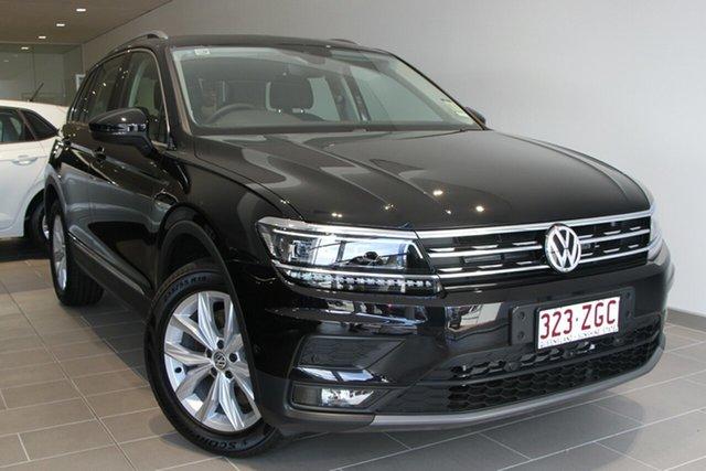 Demo Volkswagen Tiguan 5N MY19.5 132TSI DSG 4MOTION Comfortline, 2019 Volkswagen Tiguan 5N MY19.5 132TSI DSG 4MOTION Comfortline Deep Black 7 Speed