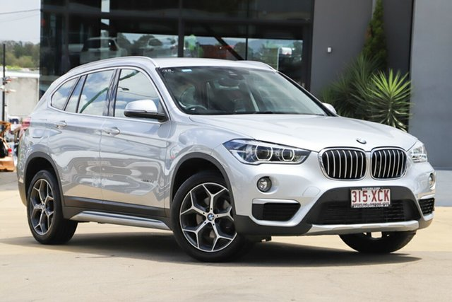 Used BMW X1 F48 sDrive18d Steptronic, 2016 BMW X1 F48 sDrive18d Steptronic Glacier Silver 8 Speed Sports Automatic Wagon