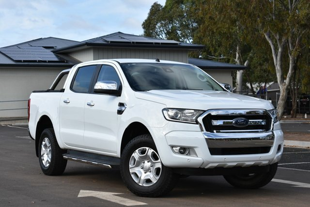 Used Ford Ranger PX MkII XLT Double Cab 4x2 Hi-Rider, 2017 Ford Ranger PX MkII XLT Double Cab 4x2 Hi-Rider White 6 Speed Sports Automatic Utility
