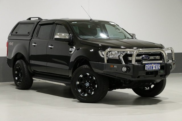 Used Ford Ranger PX MkII MY18 XLT 3.2 (4x4), 2017 Ford Ranger PX MkII MY18 XLT 3.2 (4x4) Black 6 Speed Automatic Dual Cab Utility
