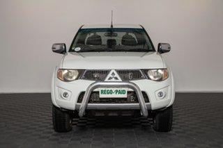 2013 Mitsubishi Triton MN MY13 GLX-R Double Cab White 5 speed Automatic Utility.