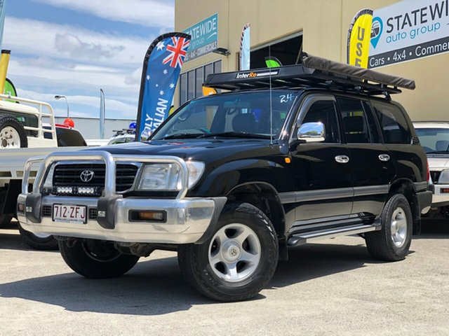 Used Toyota Landcruiser FZJ105R GXL, 2000 Toyota Landcruiser FZJ105R GXL Black 4 Speed Automatic Wagon