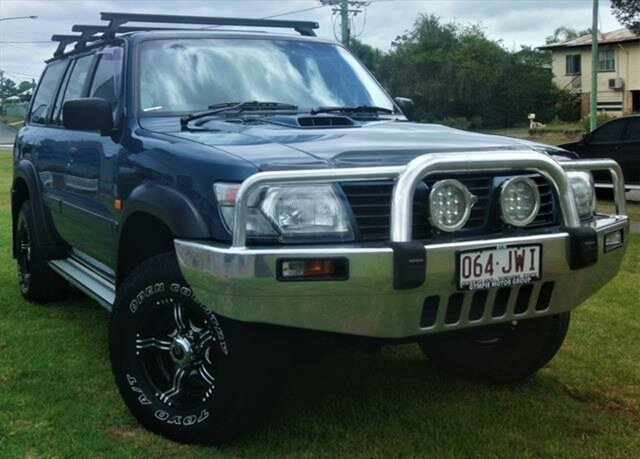 Used Nissan Patrol GU II ST, 2000 Nissan Patrol GU II ST Blue 5 Speed Manual Wagon