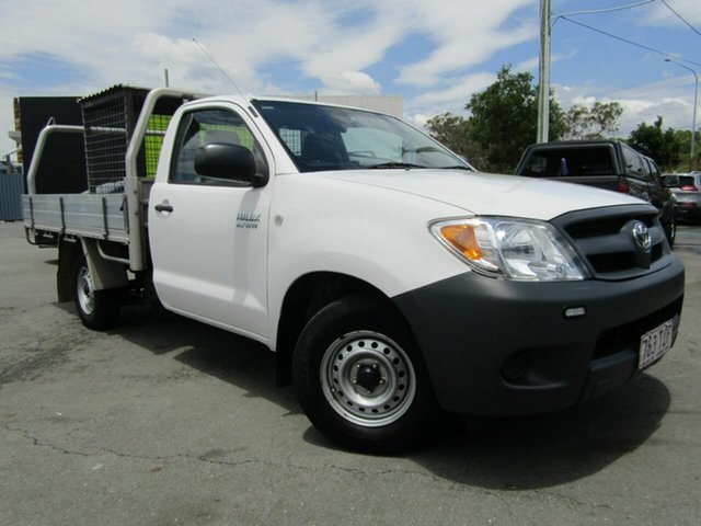 Used Toyota Hilux TGN16R 06 Upgrade Workmate, 2007 Toyota Hilux TGN16R 06 Upgrade Workmate White 5 Speed Manual Cab Chassis