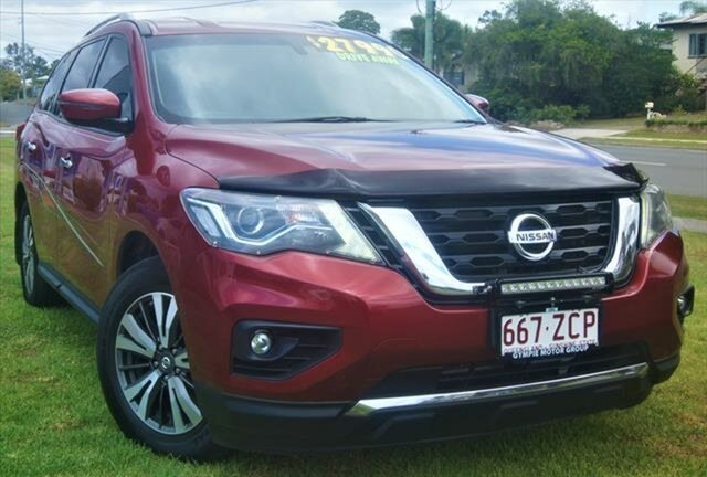 Used Nissan Pathfinder R52 Series II MY17 ST X-tronic 2WD, 2017 Nissan Pathfinder R52 Series II MY17 ST X-tronic 2WD Cayenne Red 1 Speed Constant Variable