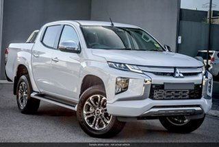 2019 Mitsubishi Triton MR MY19 GLS Double Cab White 6 Speed Sports Automatic Utility.