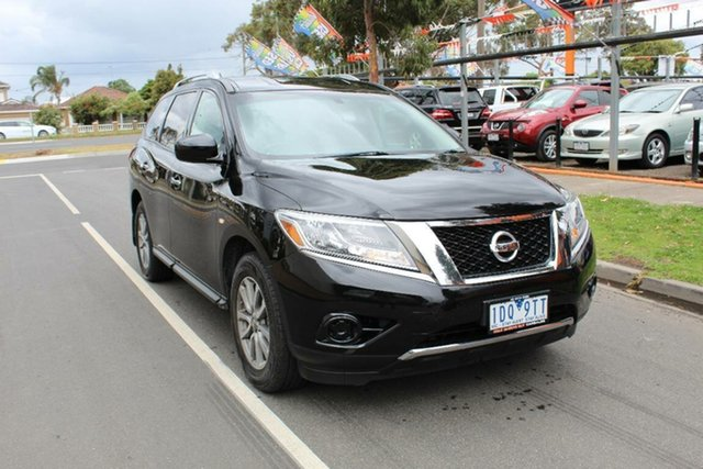 Used Nissan Pathfinder R52 ST (4x2), 2014 Nissan Pathfinder R52 ST (4x2) Black Continuous Variable Wagon