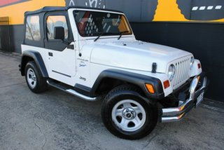 1997 Jeep Wrangler TJ Sport Pure White 5 Speed Manual Softtop.