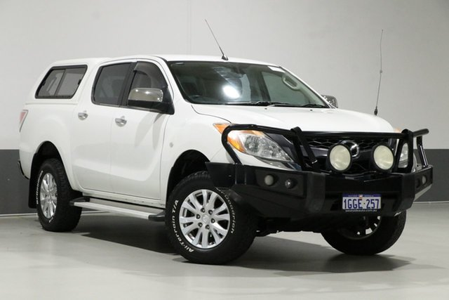 Used Mazda BT-50  GT (4x4), 2012 Mazda BT-50 GT (4x4) White 6 Speed Automatic Dual Cab Utility