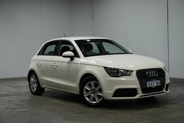 Used Audi A1 8X MY14 Ambition Sportback S Tronic, 2014 Audi A1 8X MY14 Ambition Sportback S Tronic White 7 Speed Sports Automatic Dual Clutch