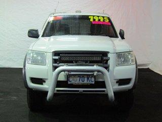 2007 Ford Ranger PJ XL Super Cab 4x2 Hi-Rider White 5 Speed Manual Cab Chassis.