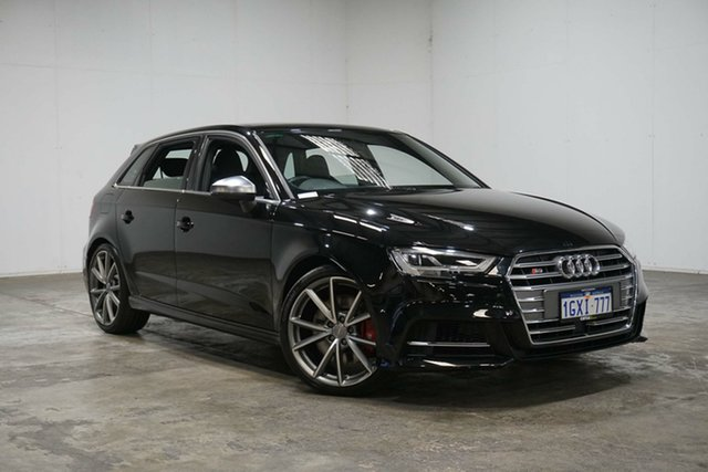 Used Audi S3 8V MY17 Sportback S Tronic Quattro, 2017 Audi S3 8V MY17 Sportback S Tronic Quattro Mythos Black 7 Speed Sports Automatic Dual Clutch