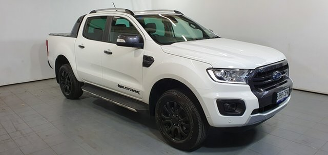Demo Ford Ranger PX MkIII 2019.75MY Wildtrak Pick-up Double Cab, 2019 Ford Ranger PX MkIII 2019.75MY Wildtrak Pick-up Double Cab Arctic White 10 Speed