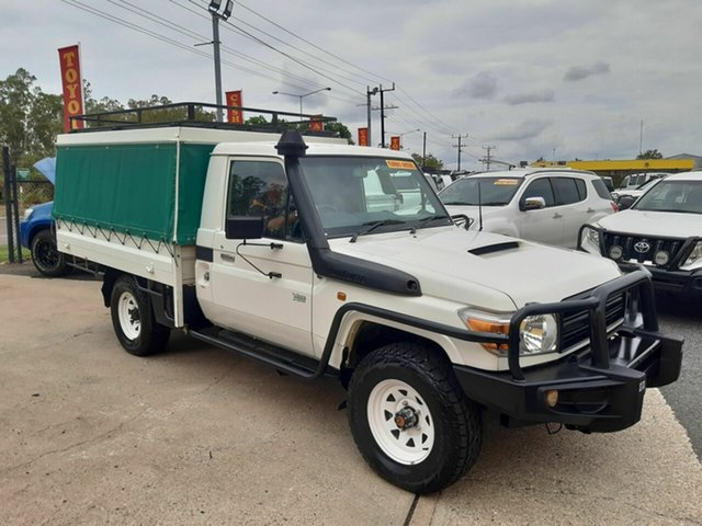 Used Toyota Landcruiser VDJ79R MY13 Workmate, 2014 Toyota Landcruiser VDJ79R MY13 Workmate White 5 Speed Manual Cab Chassis