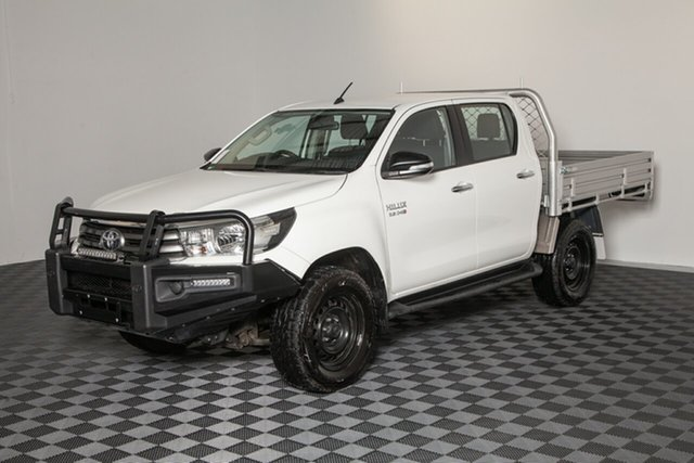 Used Toyota Hilux GUN126R SR Double Cab, 2017 Toyota Hilux GUN126R SR Double Cab Glacier 6 Speed Sports Automatic Cab Chassis