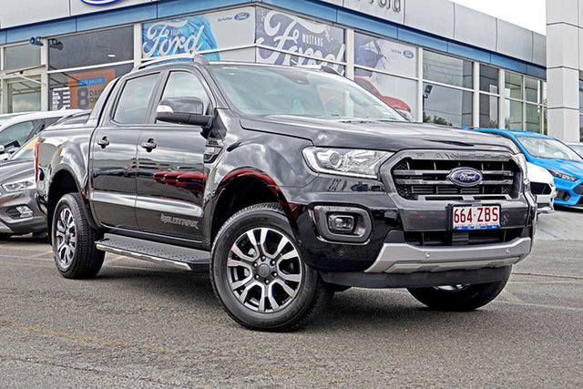 Demo Ford Ranger PX MkIII 2019.75MY Wildtrak Pick-up Double Cab, 2019 Ford Ranger PX MkIII 2019.75MY Wildtrak Pick-up Double Cab Black 6 Speed Sports Automatic