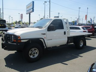2004 Ford F250 RN XLT White 6 Speed Manual Cab Chassis.