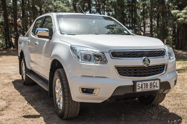 Used Holden Colorado RG MY14 LTZ Crew Cab, 2014 Holden Colorado RG MY14 LTZ Crew Cab White 6 Speed Manual Utility