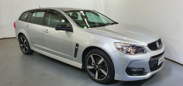 Used Holden Commodore VF II MY16 SV6 Sportwagon Black, 2016 Holden Commodore VF II MY16 SV6 Sportwagon Black Silver 6 Speed Sports Automatic Wagon
