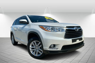 2014 Toyota Kluger GSU55R GX AWD White 6 Speed Sports Automatic Wagon.