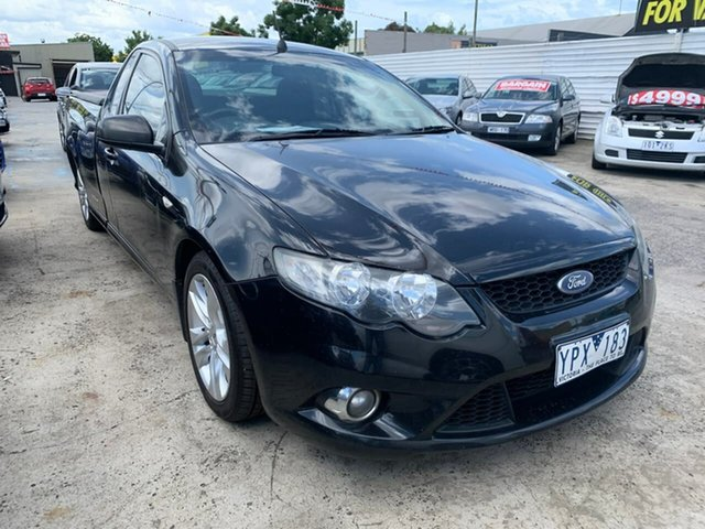 Used Ford Falcon FG XR6 Ute Super Cab, 2011 Ford Falcon FG XR6 Ute Super Cab Black 6 Speed Manual Utility