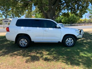 2015 Toyota Landcruiser VDJ200R MY13 GXL White 6 Speed Sports Automatic Wagon.