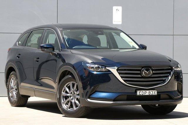 Demo Mazda CX-9 TC Sport SKYACTIV-Drive, 2019 Mazda CX-9 TC Sport SKYACTIV-Drive Deep Crystal Blue 6 Speed Sports Automatic Wagon