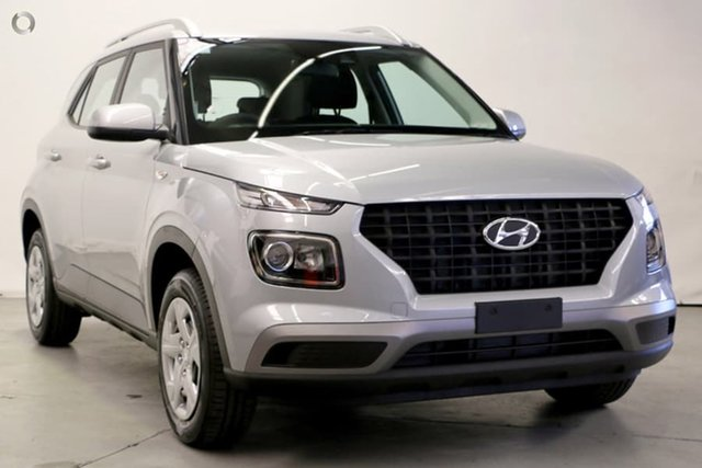 Demo Hyundai Venue QX MY20 Active, 2019 Hyundai Venue QX MY20 Active Typhoon Silver 6 Speed Automatic Wagon