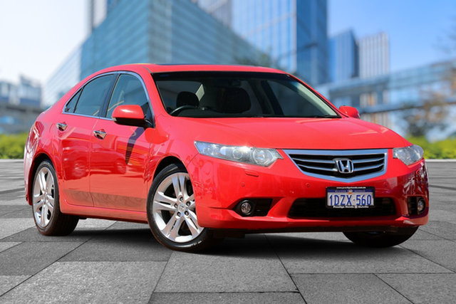 Used Honda Accord Euro CU MY12 Luxury, 2012 Honda Accord Euro CU MY12 Luxury Milano Red 5 Speed Automatic Sedan