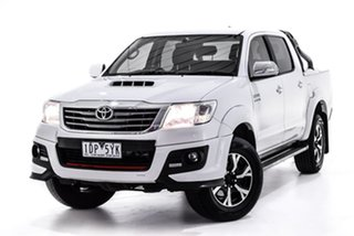 2014 Toyota Hilux KUN26R MY14 Black Double Cab Limited Edition White 5 Speed Automatic Utility.