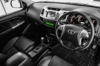 2014 Toyota Hilux KUN26R MY14 Black Double Cab Limited Edition White 5 Speed Automatic Utility