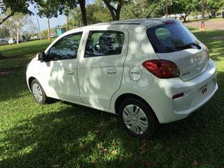 2017 Mitsubishi Mirage LA MY17 ES White Continuous Variable Hatchback