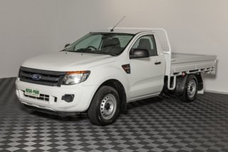 2015 Ford Ranger PX XL 4x2 White 6 speed Manual Cab Chassis.