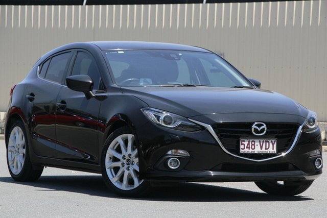 Used Mazda 3 BM5438 SP25 SKYACTIV-Drive GT, 2014 Mazda 3 BM5438 SP25 SKYACTIV-Drive GT Black 6 Speed Sports Automatic Hatchback