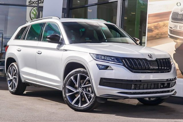 New Skoda Kodiaq NS MY20 132TSI DSG Sportline, 2019 Skoda Kodiaq NS MY20 132TSI DSG Sportline Silver 7 Speed Sports Automatic Dual Clutch Wagon