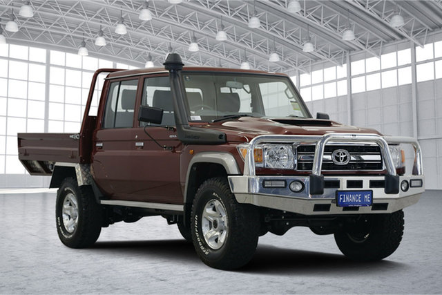 Used Toyota Landcruiser VDJ79R GXL Double Cab, 2019 Toyota Landcruiser VDJ79R GXL Double Cab Red 5 Speed Manual Cab Chassis