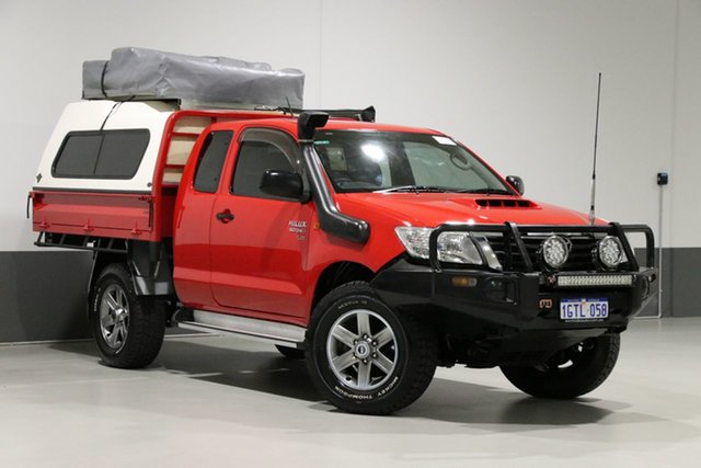Used Toyota Hilux KUN26R MY14 SR (4x4), 2015 Toyota Hilux KUN26R MY14 SR (4x4) Red 5 Speed Manual Cab Chassis